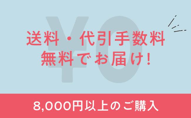 8,000円以上のご購入で送料・代引手数料無料でお届け!