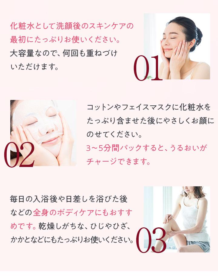 使い方01/02/03!
